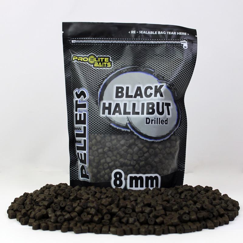 PELLETS PERFORADO BLACK HALLIBUT 8MM 900GR COPPENS PRO ELITE BAITS