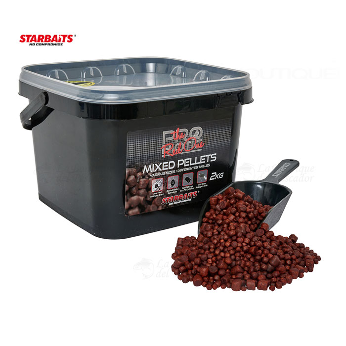 PELLETS MIXED PROBIOTIC RED 2KG STARBAITS