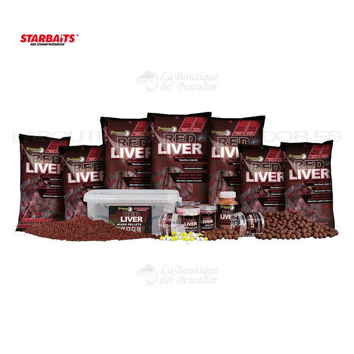 PELLETS MIXED PC RED LIVER 2KG. STARBAITS