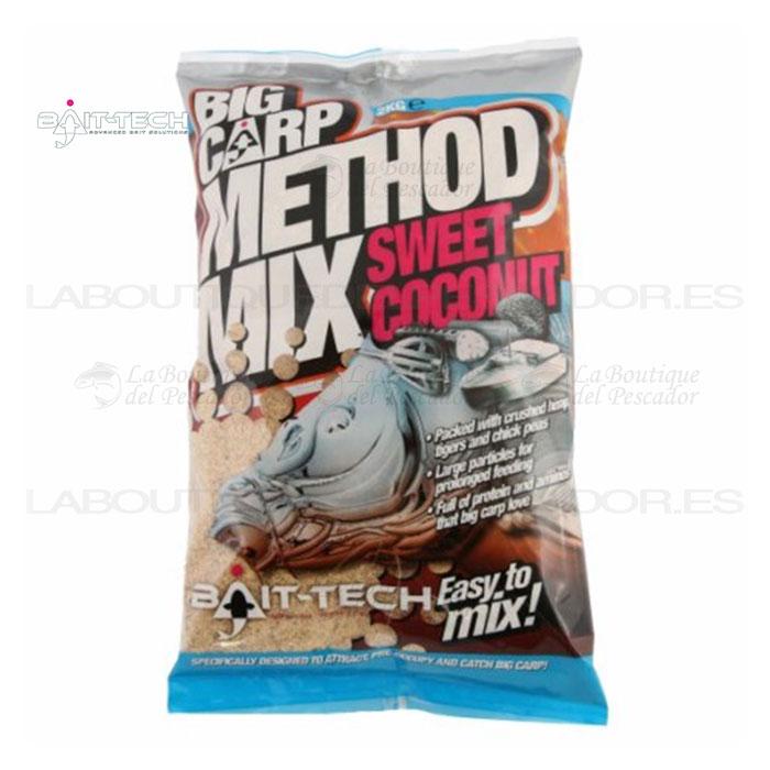 BIG CARP METHOD MIX: SWEET COCONUT 2KG. BAIT-TECH