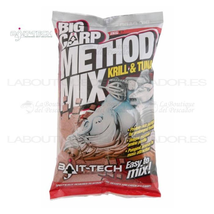 BIG CARP METHOD MIX: KRILL & TUNA 2KG. BAIT-TECH